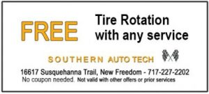 Tire Rotation with any service